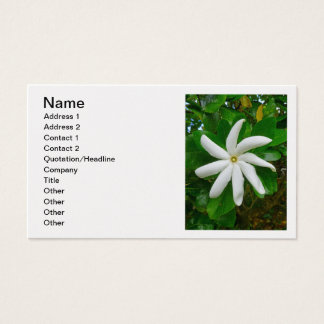 Tahitian Gardenia Business Card