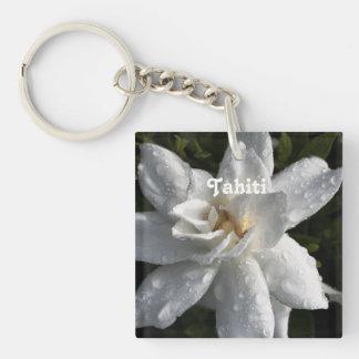 Tahitian Gardenia Single-Sided Square Acrylic Keychain
