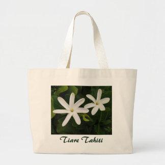 Tahitian Gardenia Large Tote Bag