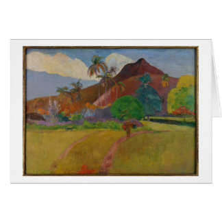 Tahitian Landscape, 1891 (oil on canvas) Greeting Card