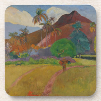 Tahitian Landscape, 1891 (oil on canvas) Drink Coaster