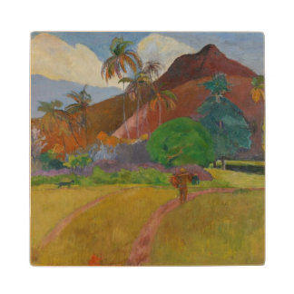 Tahitian Landscape, 1891 (oil on canvas) Maple Wood Coaster