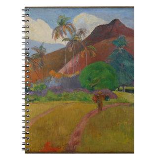 Tahitian Landscape, 1891 (oil on canvas) Notebooks