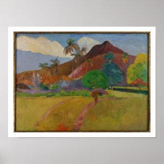 Tahitian Landscape 1891 oil on canvas Print