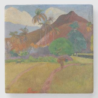 Tahitian Landscape, 1891 (oil on canvas) Stone Beverage Coaster