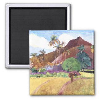 Tahitian Landscape Square Magnet