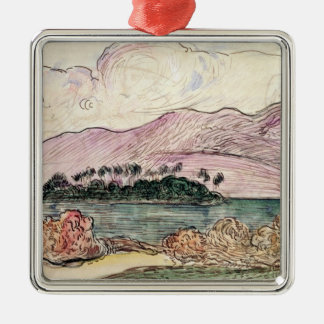 Tahitian Landscape (w/c on paper) Christmas Ornament