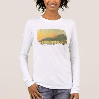 Tahitian War Galleys in Matavai Bay, Tahiti, 1766 Long Sleeve T-Shirt
