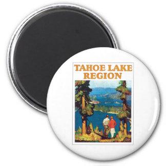 Tahoe Lake Region Vintage 6 Cm Round Magnet