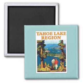 Tahoe Lake Region Vintage Square Magnet