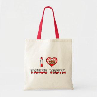 Tahoe Vista, CA Canvas Bag