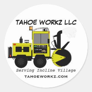 Tahoe Workz Llc Snow Removal Services Round Sticker