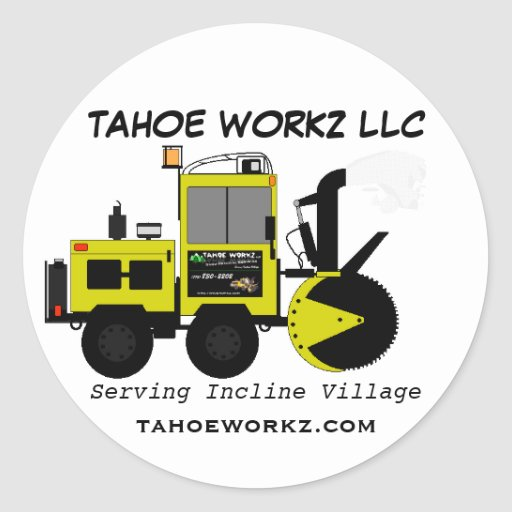 Tahoe Workz Llc Snow Removal Services Round Stickers