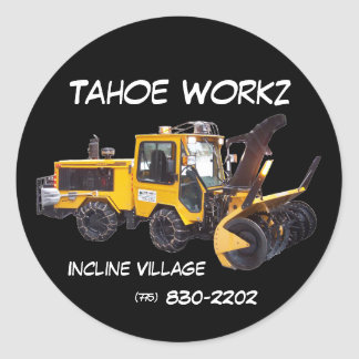 Tahoe Workz llc Snow Removal Services Sticker
