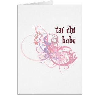 Tai Chi Babe Greeting Card