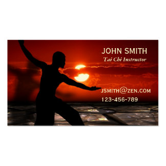 Tai Chi Instructor Martial Arts Pack Of Standard Business Cards