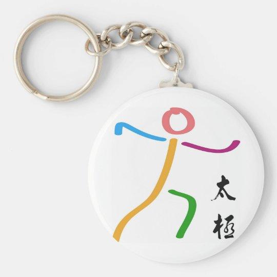 Tai Chi Logo Basic Round Button Key Ring