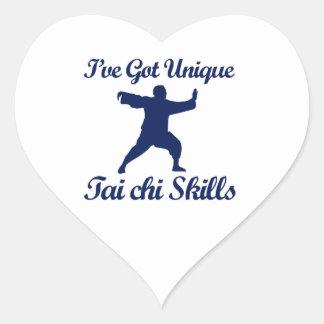 tai chi martial art designs heart stickers