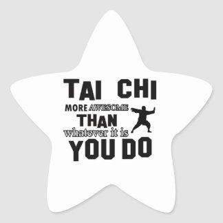 TAI CHI MARTIAL arts gifts Star Sticker