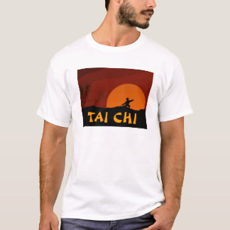 TAI CHI SUNSET MAN MONK COLOR T-Shirt