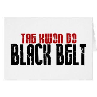 Tai Kwan Do Black Belt Karate Card