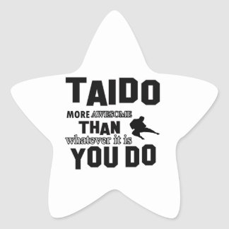 TAIDO MARTIAL arts gifts Star Sticker