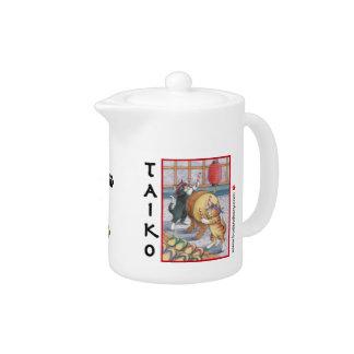 Taiko Cats Teapot