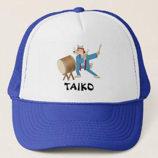 Taiko Drum Cartoon Dog Taiko Drummer Trucker Hat