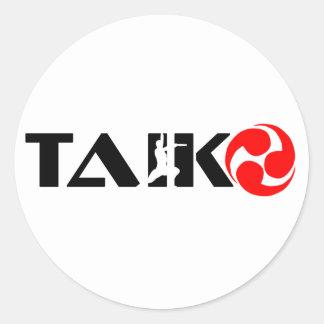 Taiko Guy (Design 1) Classic Round Sticker