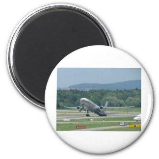 Tail Dragger Bad Landing 6 Cm Round Magnet