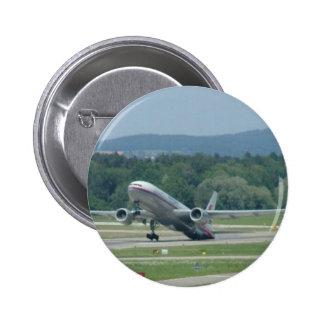 Tail Dragger Bad Landing 6 Cm Round Badge