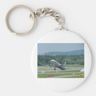 Tail Dragger Bad Landing Basic Round Button Key Ring