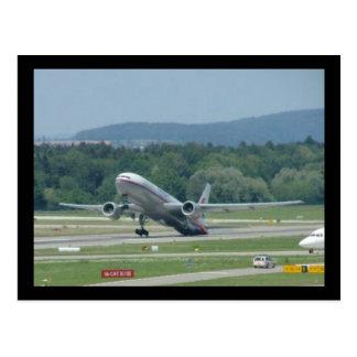 Tail Dragger Bad Landing Postcard