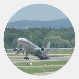 Tail Dragger Bad Landing Round Sticker