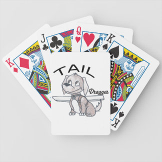 Tail Dragger Bicycle Playing Cards