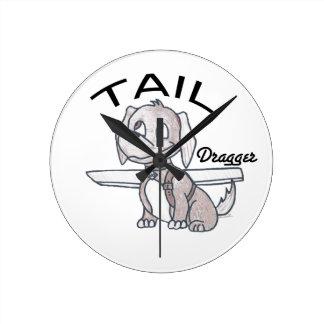 Tail Dragger Wall Clock