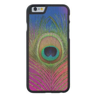 Tail feather of a peacock carved® maple iPhone 6 slim case
