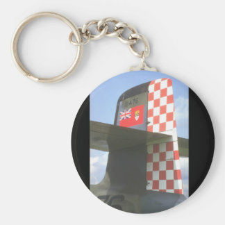 Tail of CF-100 Canuck_Military Aircraft Basic Round Button Key Ring