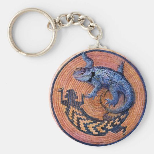 Tail Spin - Art by Kathy Morrow Basic Round Button Key Ring