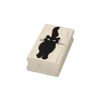 Tail Up Kitty Rubber Stamp