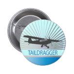 Taildragger Aeroplane 6 Cm Round Badge