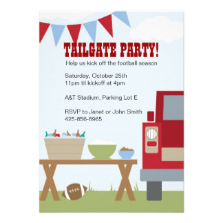 Tailgate Football Party Invitation
