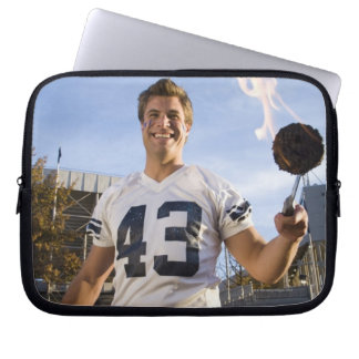 tailgate party before a football game laptop sleeve
