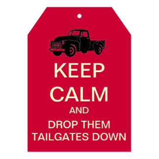 "Tailgate Party Keep Calm Custom Invitation (Red) 5"" X 7"" Invitation Card"