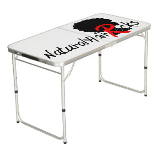 Tailgate size Ping Pong table by Natural Hair Rock