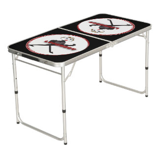 Tailgate Size Pong Table LOVERBOY CIRCLE LOGO