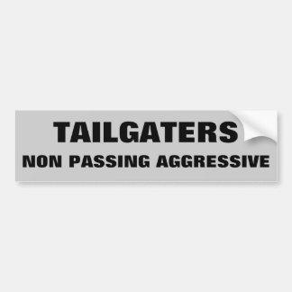 Tailgaters Non Passing Aggressive Bumper Sticker