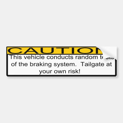 Tailgating Bumper Sticker