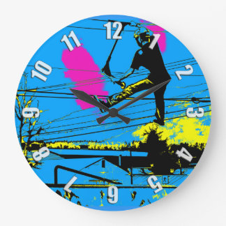 Tailgating - High Flying Scooter Large Clock