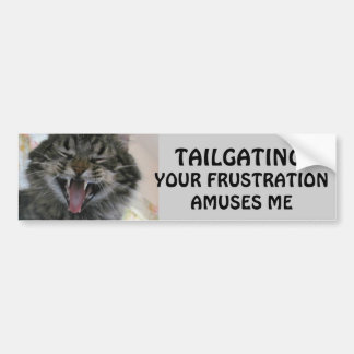 Tailgating? Your Frustration Amuses Laughing Cat Bumper Sticker